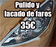 pulido y lacado de faros de coche en valencia